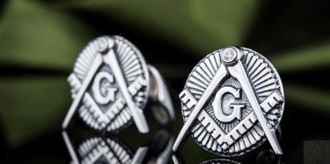 Masonic Silver Cuff Links