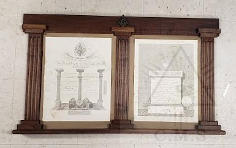 Masonic certificate frame