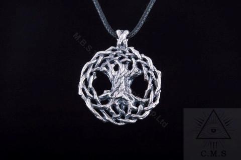 Yggdrasil  World Tree Silver Pendant