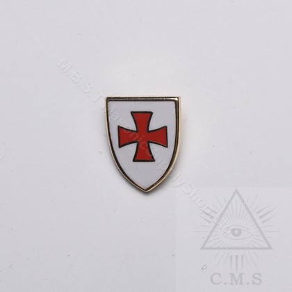 Knight Templar Shield  Lapel Pin