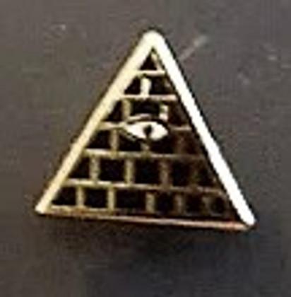 Lapel pin Eye in  Pyramid          PIN-EYEPYR