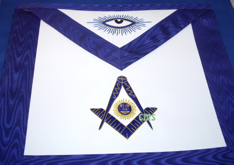 Past Master Apron -2     Hand Embroidered