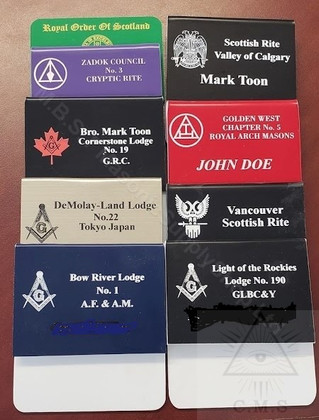 Masonic Lodge Name Badge