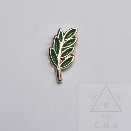 Masonic Acacia  Leaf  lapel Pin