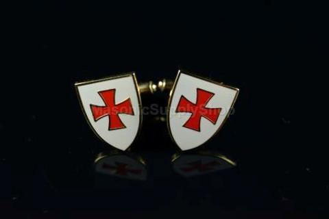 Knight Templar  Shield Cufflinks