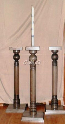 "Custom Lodge Candle Holders  36"" Tall"