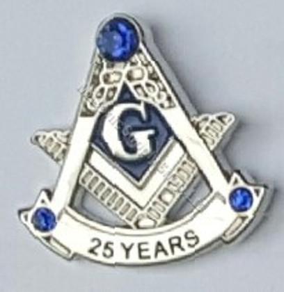 Masonic 25 year Lapel pin