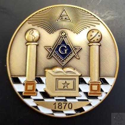 Custom Masonic  Presentation Coins   samples