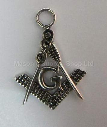 Classic Masonic Pendant Silver- 3
