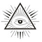 Tee Shirt  Small  All Seeing Eye design . Assorted Colors   Sizes   Small to 6XL!