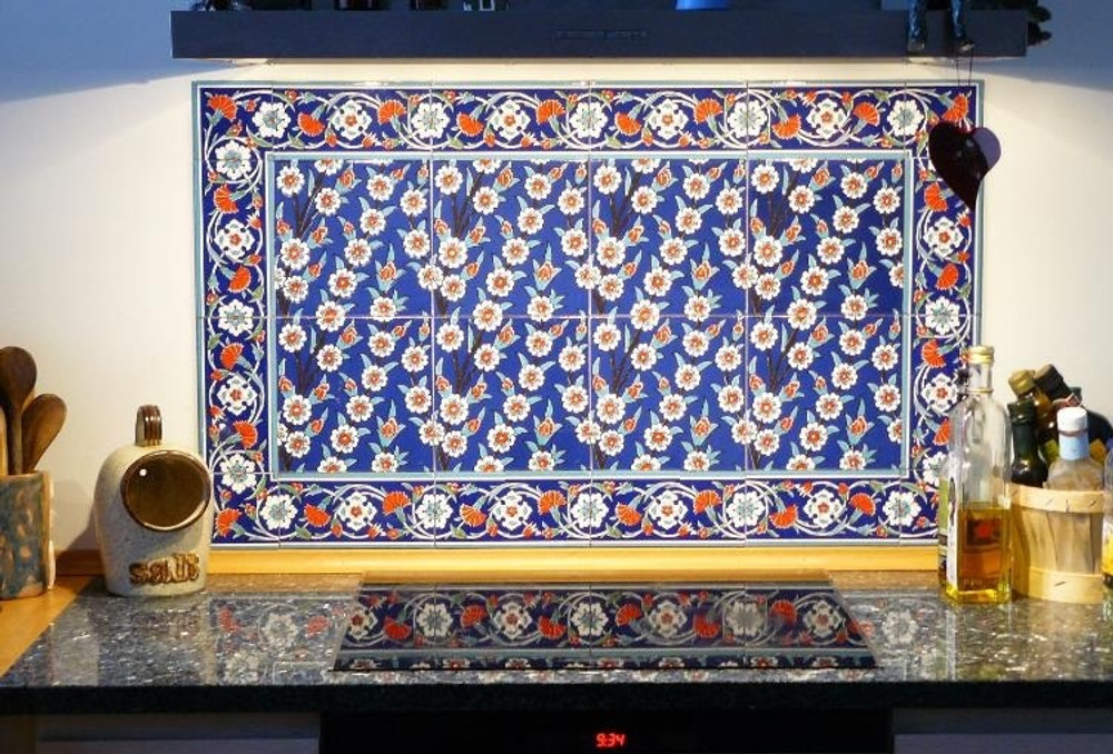 Kitchen Panel with 43 - Border Tile
