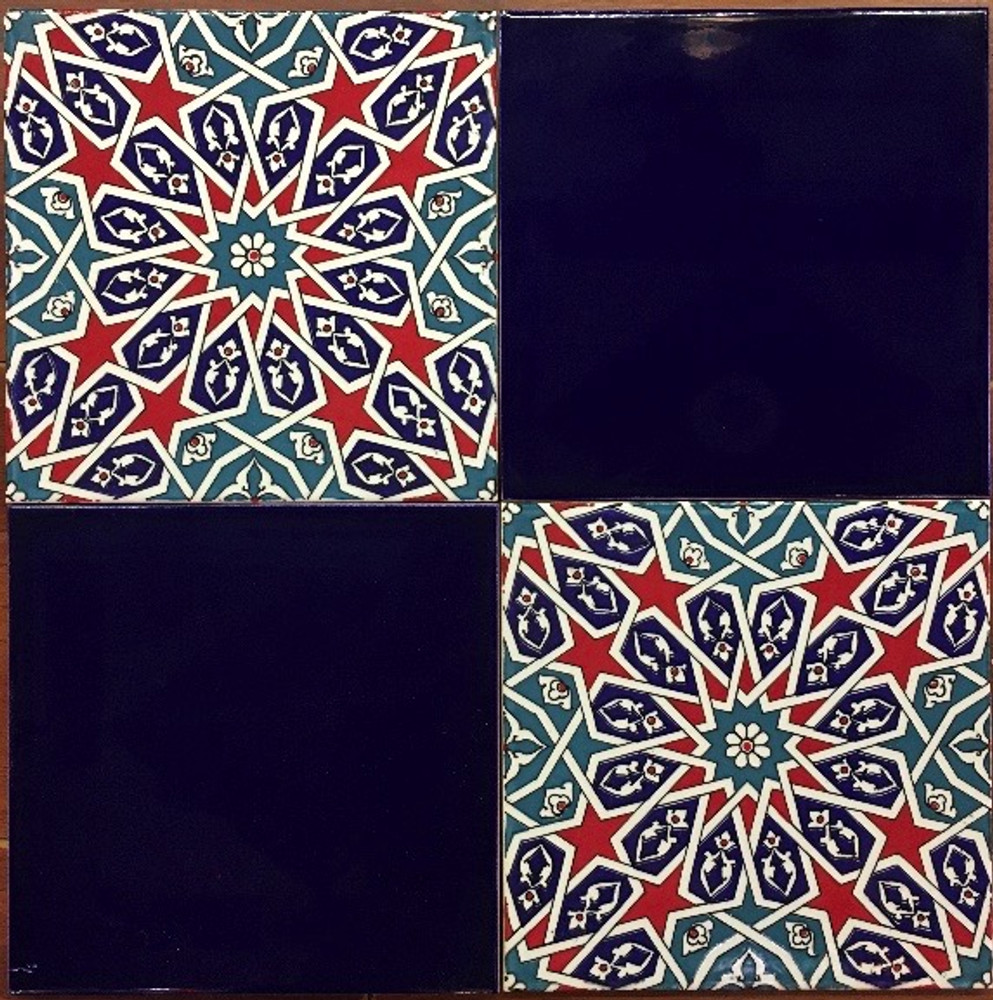 Infinite Pattern tile with Cobalt mix