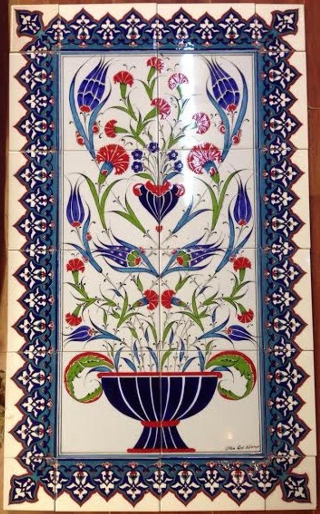Border 13 with tile panel  Total dims 60x100cm