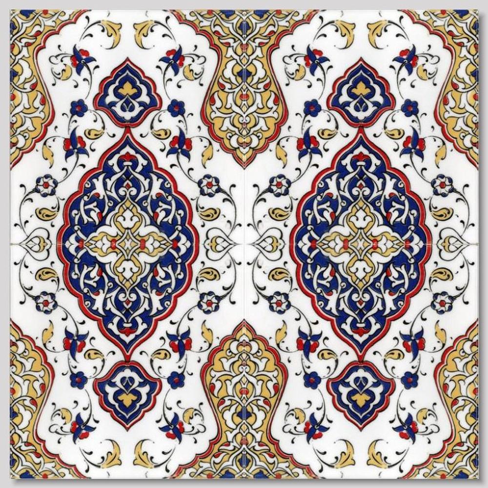 "4pc continuous pattern design 40x40cm (16x16"") Intricate floral designs"
