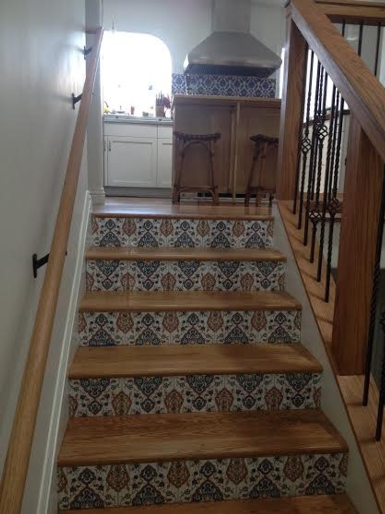 Cultivation tile utilized as stair risers Courtesy of client: South San Fransisco