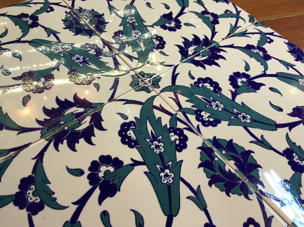 Turkish Ceramic Tiles: Floral Spin