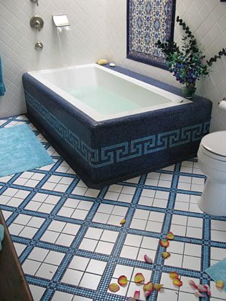Elegant floral tiles that make any bathroom wall look superb
