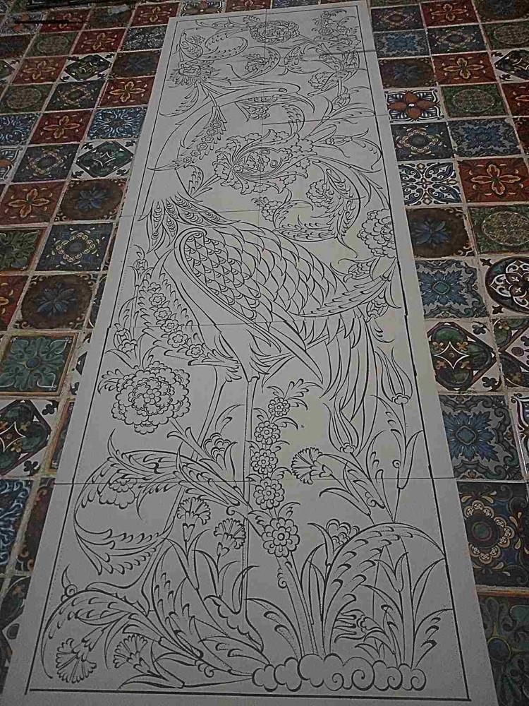40x120cm - Forgotten Glory Ceramic Tile Panel