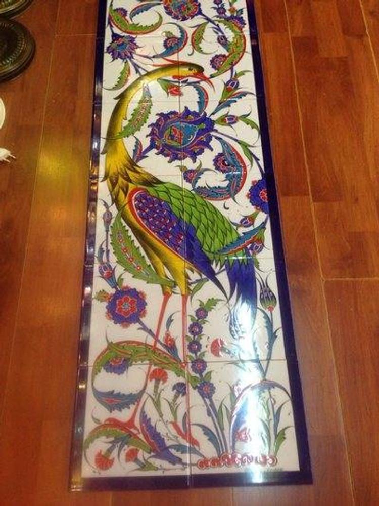 2x6pc traditional Iznik Art Ceramic Tiles Ceramic Wall Art