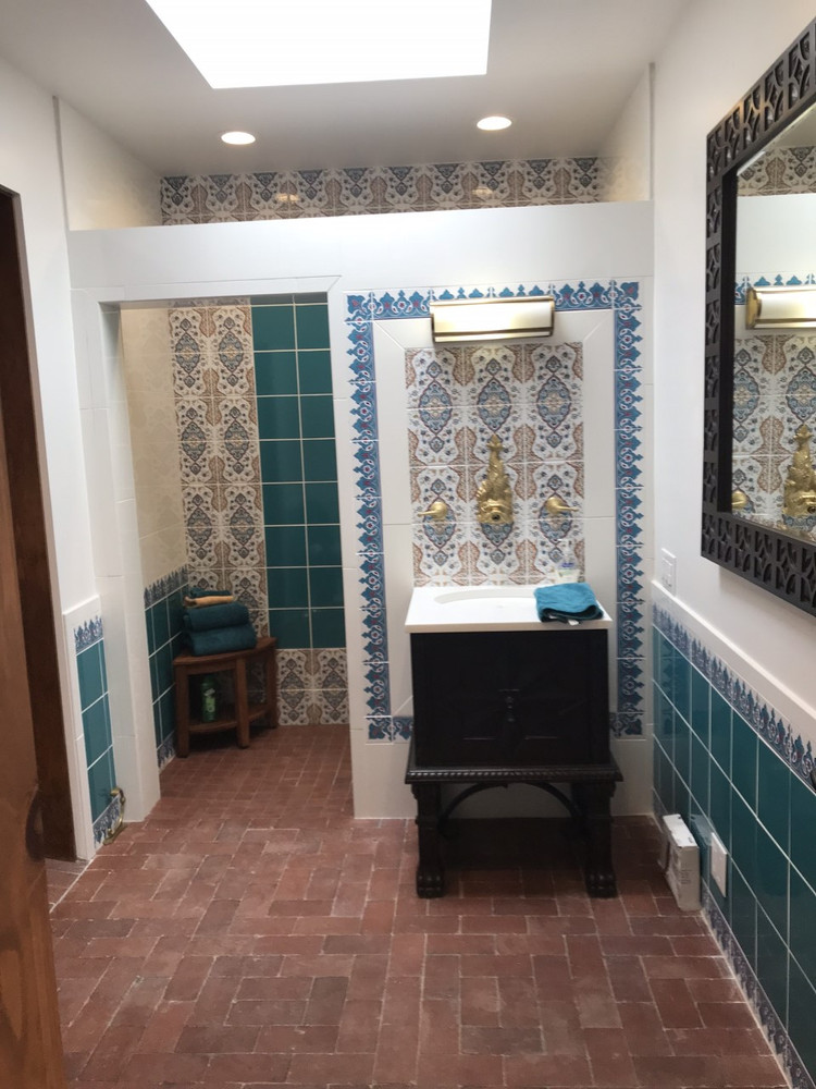 Bathroom,  Albuquerque, NM USA Courtesy of: Christopher Tracy Design