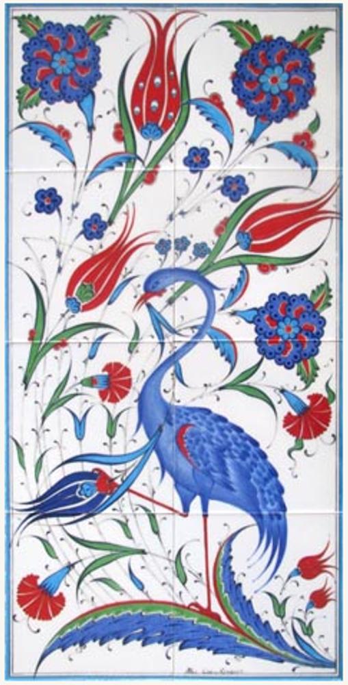 40x80cm - Wild Spring Floral Tile Art
