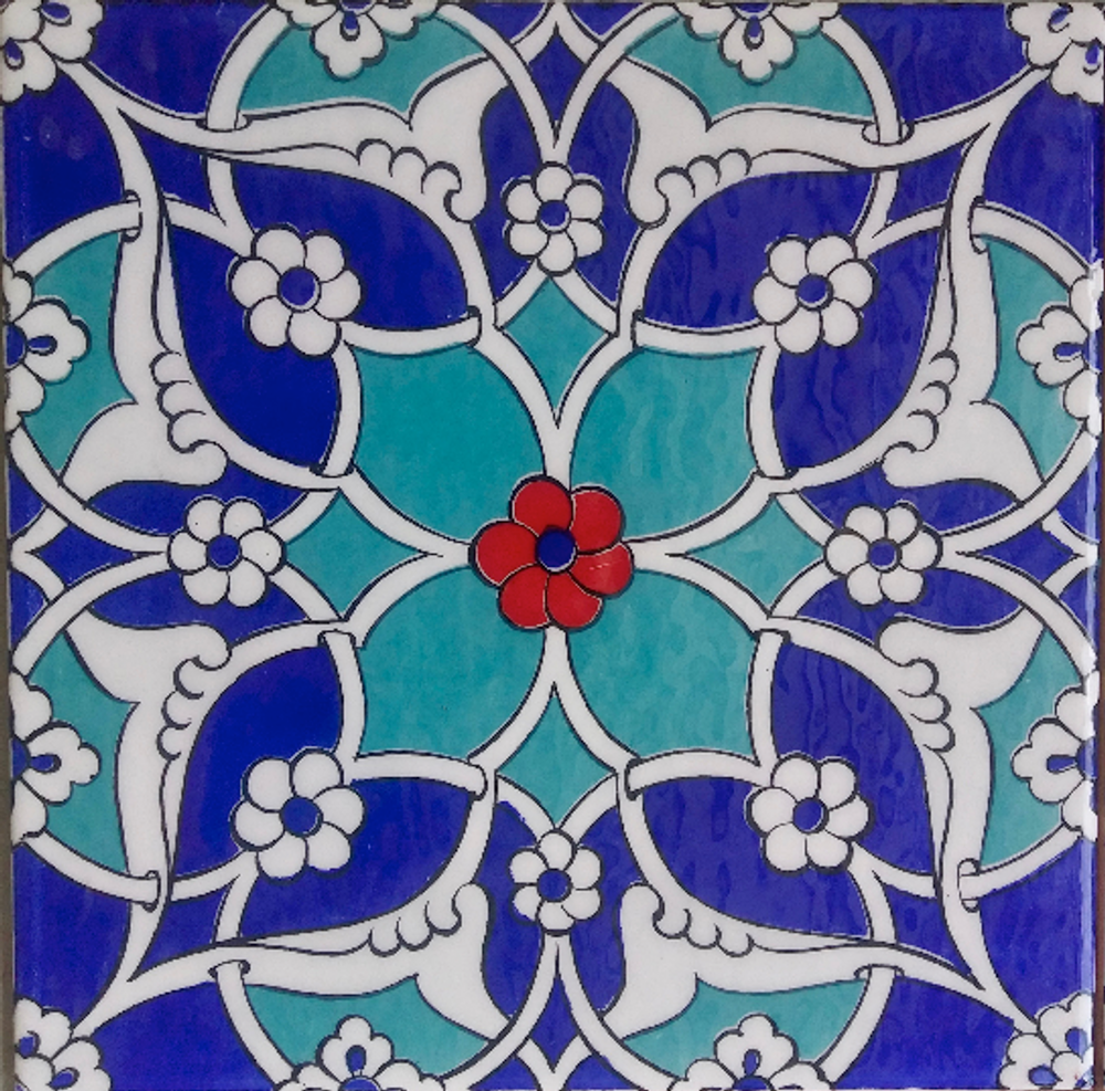 20x20cm dry press Iznik Art Wall Tile