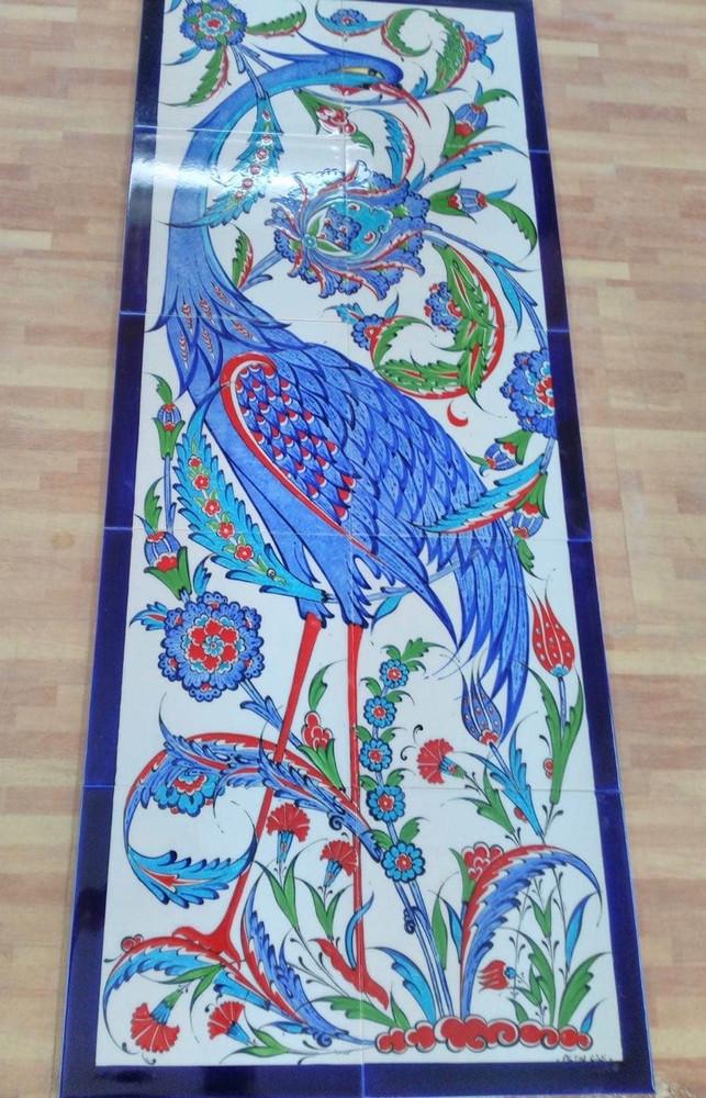 10pc ceramic wall mural Finest Iznik Art 40cm x 100cm