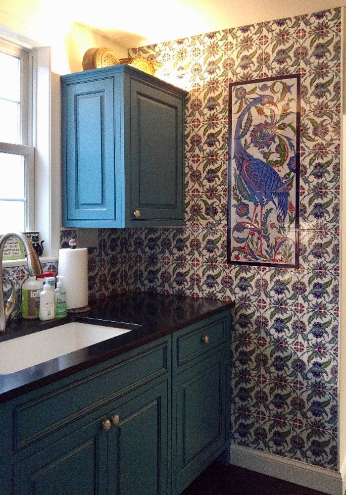 Flourish Wall Tiles with Forgotten Glory Tile Mural Bethesda, MD - USA