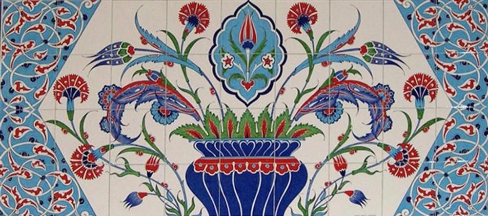 160x80cm - Cradle of Life Carnation Tile Mural Backsplash