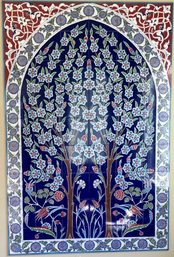 120x180cm Iznik Art Ceramic Wall Tile Panel