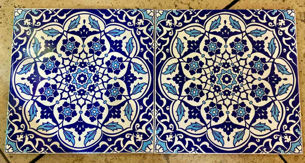 Floral Art ceramic floor tiles