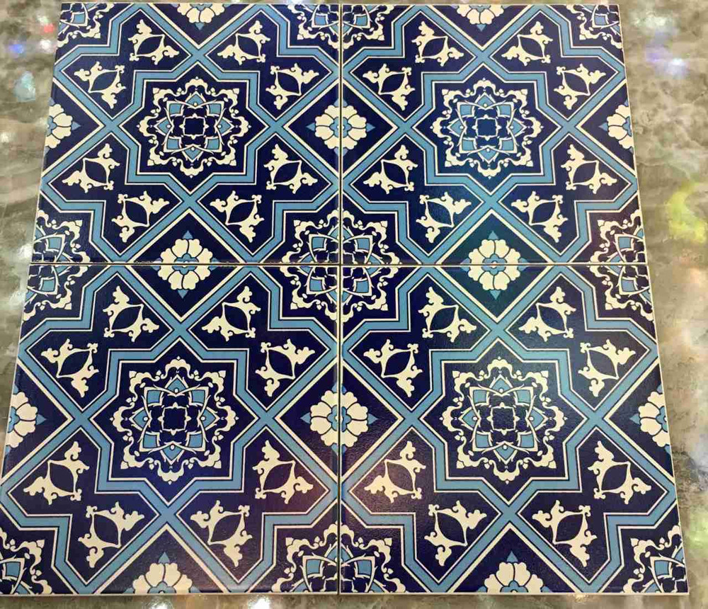 Iznik Art Ceramic Floor Tile from ShopTurkey.com