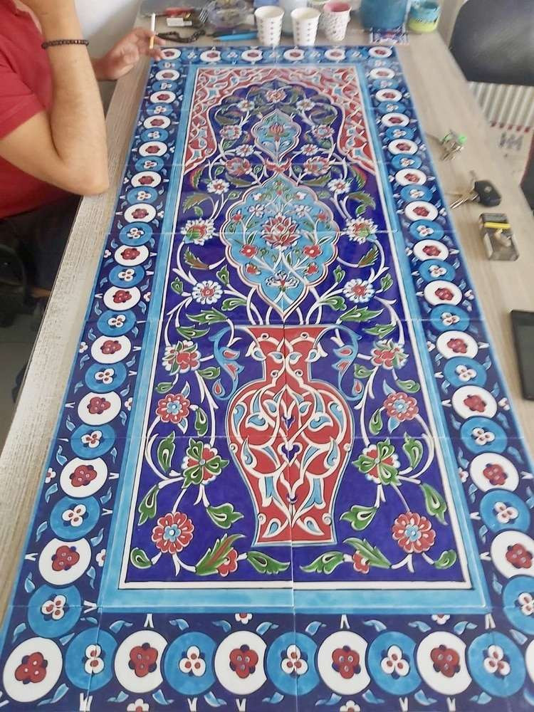 60x140cm ceramic tile backsplash art