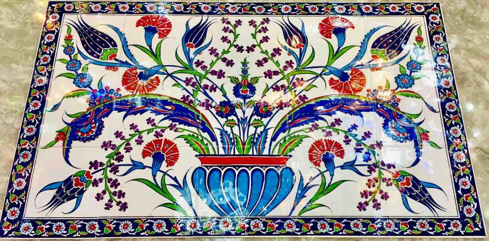Ceramic Tile Backsplash art Iznik Floral Designs only from ShopTurkey.com