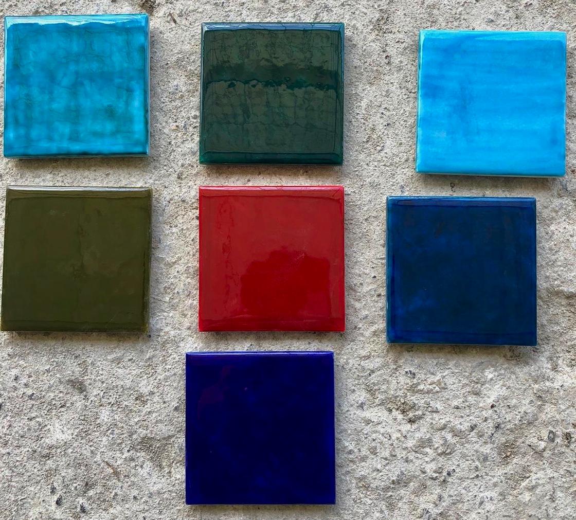 Iznik Quartz Wall Tiles - 15x15cm