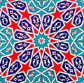 Single 20x20cm continuous geometric pattern tile