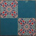 Infinite Pattern tile with Turquoise mix