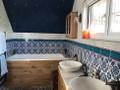 Border 60 with Floral Dream tile  Bathroom - Uxbridge, England