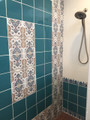 Shower wall. Albuquerque, NM Courtesy of: Christopher Tracy Design