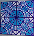 """Continuous Geometric 4 tile pattern Wall Tiles for kitchen or bathroom Dimension: 40 x 40cm (approx. 16x16"""")"""