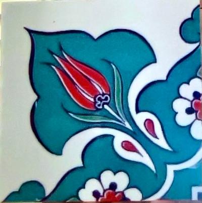 """10x10cm (4x4"""") Corner Tile"""