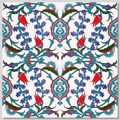 Continuous Floral Pattern Pattern Wall Tiles for kitchen or bathroom