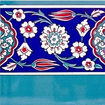 Floral Border Tile 20x20cm