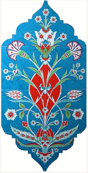 40cm x 80cm Ceramic Tile Iznik Wall Art