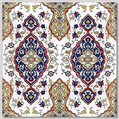"4pc continuous pattern design 40x40cm (16x16"") Intricate floral designs"