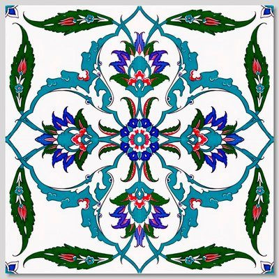 """Continuous 4pc Pattern Wall Tiles for kitchen or bathroom wall design 40x40cm (16x16"""")"""