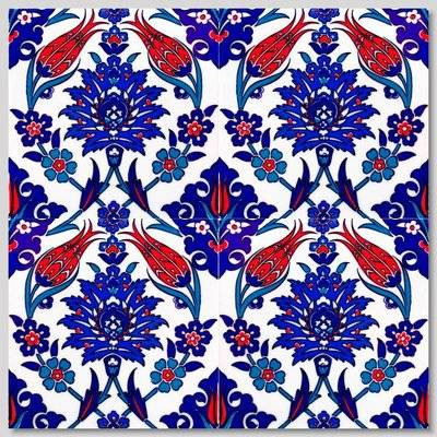 Continuous Pattern Floral Pattern Wall Tiles for kitchen or bathroom