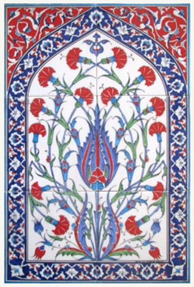2x3pc hand painted traditional Turkish Tiles 40cm x 60cm