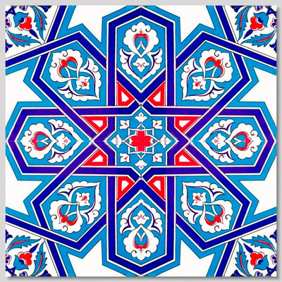 """40x40cm (16x16"""") Continuous 4 piece pattern  Wall Tiles for kitchen or bathroom"""