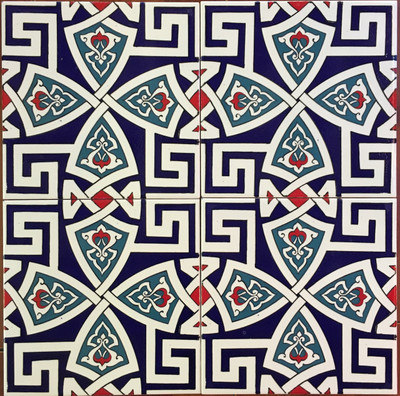 Continuous Pattern 4pc Wall Tiles  for kitchen or bathroom